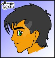 Vince Carr age 18 face in profile by sthaque