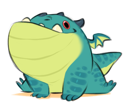 Mini dragon by AidenMonster
