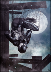 Black Spidey calling Black Cat. by MarcMons007