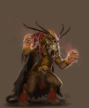Mayan: Jaguar Priest by GraphicGeek
