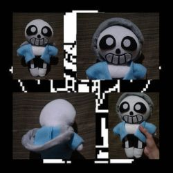 Sans Undertale Plushie by Puffylover1