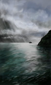 Study: Milford Sound Cruise by bleistiftkind