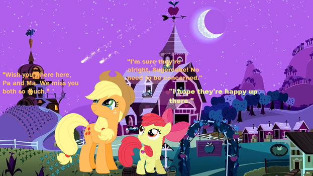 Apple Bloom and AJ Remembering their Parents by Thunderstar711