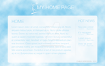 Sky Personal Homepage Design by chalkwebdesign
