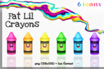 FaT LiL Crayons by kittenbella