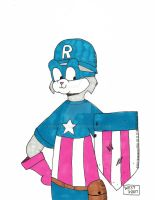 Rusty As Captain America by maxwestart