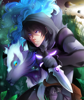 Keith and his Space Wolf by Rainabic