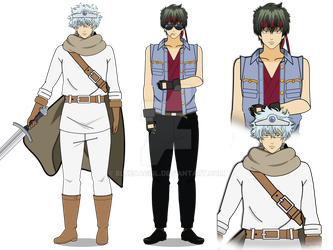 Gintama TOSSHI and Leukocyte King by BlueAAGirl