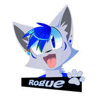 [Comm] Roguewolf84 Badge by Void-Shark