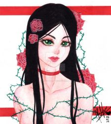 Original Character || Red Roses 2 by Alice-Pandora