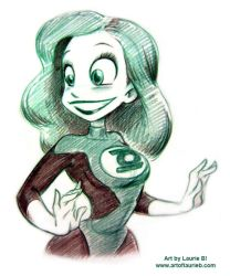 Con Sketch - Green Lantern by ArtofLaurieB