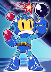 'Blue Bomber!' - [Mega Man / Bomberman crossover] by MarkProductions