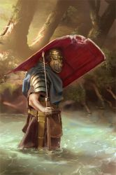 045 - roman legionary WIP 03 by NickProkoArt