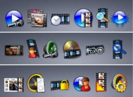 68 Audio video img icons by zman3