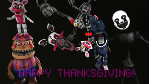 [FNAF SFM] Wishing You A Happy Thanksgiving by boatfullogoats