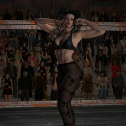 Cage Fight Test Rendering 01 by CalvadosJapan