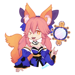 Tamamo Commish by MatchiiTea