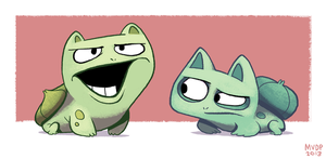 Bulbsaur bros by sketchinthoughts