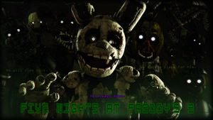 FNaF3 Anniversary Wallpaper by TF541Productions