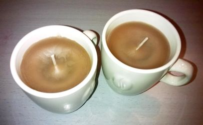 2 cups of coffeecandles by Mutany