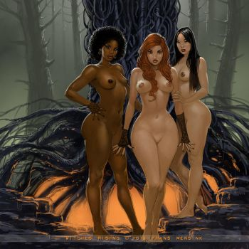 Witches! by FransMensinkArtist