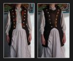 Waistcoat Sewing/Modification Project by Feivelyn