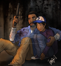 Lee and Clem #TWD by Maiqueti