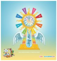Kawaii Cosmic Sun Clock 2011 by KawaiiUniverseStudio