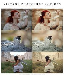 Photoshop Vintage Actions by meganjoy