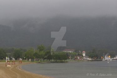 Lake George Village and Million Dollar Beach  by peterkopher