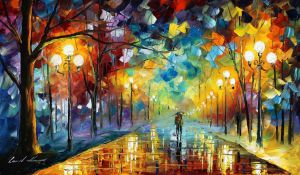 Date In The Park by Leonid Afremov by Leonidafremov