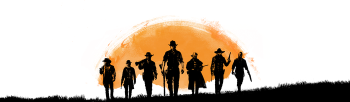 Red Dead Redemption 2 - Cleaned Transparent Gang by MuuseDesign