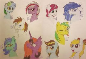 Look, a bunch of OCs! ^^ by LennyStendhal13