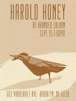 Harold Honey Branded Saloon Poster by MadSketcher