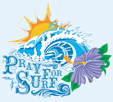 Pray for surf by feuerhelmgraphics