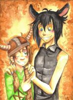 Hiccup and Gijinka Toothles XD by SirPrinceCharming