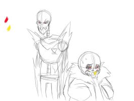 Rough Underfell Skelebros Animation by insanityarts99