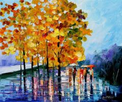 Fall Evening by Leonid Afremov by Leonidafremov