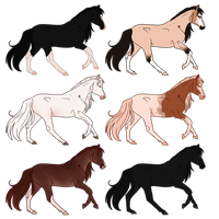 Mixed Horse Batch - Sold by Miss-Adopts