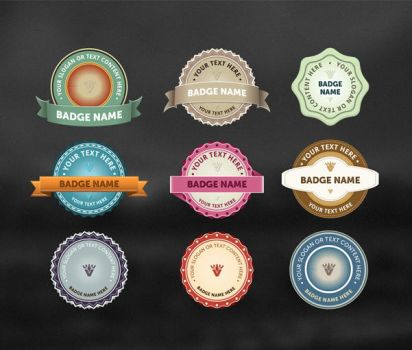 9 Vintage Vector Badges by An1ken