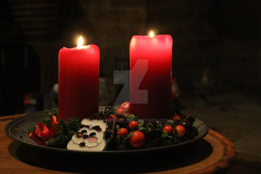 Christmas Candles by JohnP1art