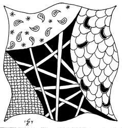 Zentangle by gingersketches