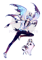 [CLOSED] adopts auction - Blue Owl by Polis-adopts