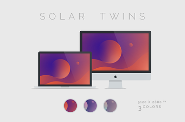 Solar Twins Wallpaper 5120x2880px by dpcdpc11