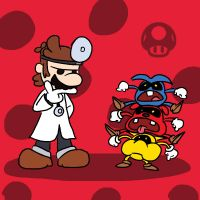 Super Smash Bros 046-Dr. Mario by Guuguuguu