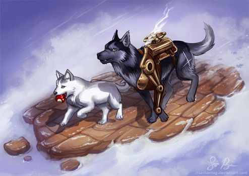 Steam Husky and iHusky by Risachantag