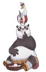 Kung fu Panda - Po and Mr. Ping by qeius