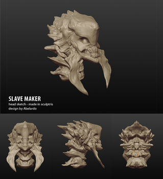Slavemaker Headsketch by DasBilligeAlien
