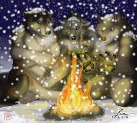 Fullmoon Card 'Freezing Cold' - [Game Project] by KeksWolf