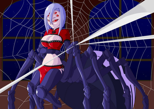 [Monster Musume] A night with Rachnera by MechatheTecha